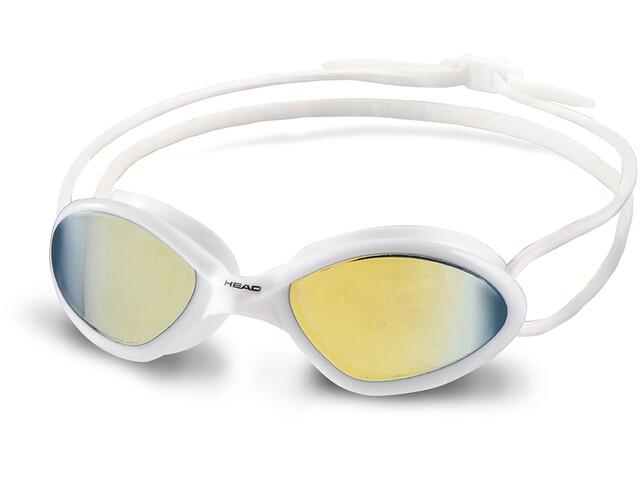 Head Tiger Race Mid Mirrored Goggles, white-smoke
